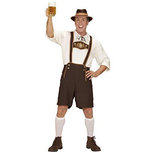 Widmann 05584 - Bayer, Lederhosen, Hemd, Socken und Hut, Tracht, für Karneval, Mottoparty, Oktoberfest, Volksfest