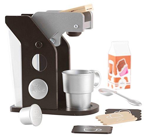KidKraft - Set de juguete de máquina de café con accesorios, Color Espresso (63379)