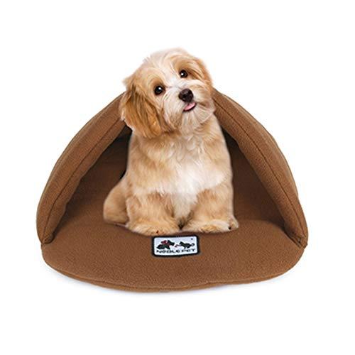 HAODEE Cama Gatos Gato Cama Sofa Perro Cama para Gatos Cama Refrescante para Perros Cama Fria para Perros Cama Verano Perro Cama para Perro para Cachorro Y Gatito Camel,X-Small