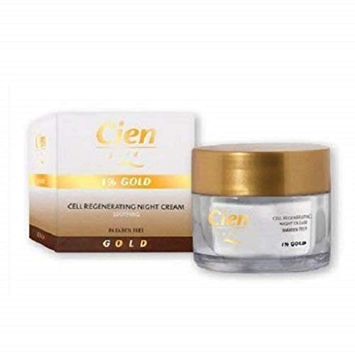 Crema Cien Gold Regeneradora Celular Noche 1% de Oro – 50ml