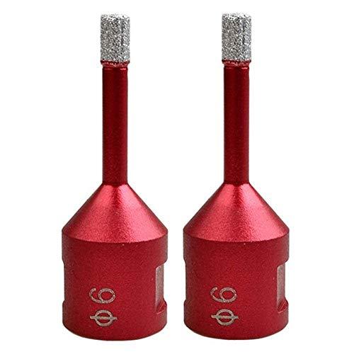 Brocas Para 2pc DIA 6mm M14 Vacío Diamante Bold Diamond Bits Bits Dry Drilling Bit Hole Saw Brocas Bits Granite Mármol Azulejo