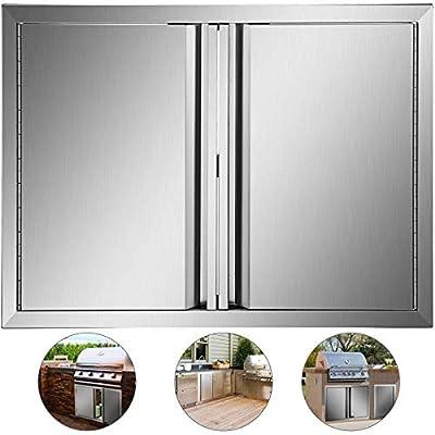 Mophorn Outdoor Kitchen Doors 28 x 19 Inch BBQ Door Stainless Steel BBQ Access Door Grill Door Outdoor Kitchen Doors Perfect for Outdoor Kitchen BBQ Island