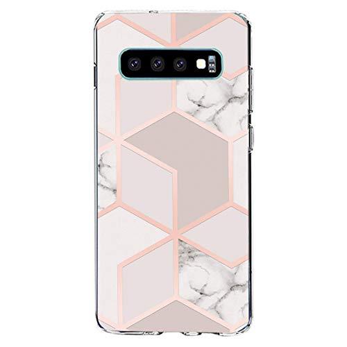 kkkie kompatibel mit Galaxy S10 Hülle Transparent Silikon Case für Galaxy S10 plus Schutzhülle Marmor Motiv Blumen Christmas Weihnachten HandyHülle für Galaxy S10e (3, Galaxy S10 Plus)