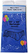 (12-pack) Royal Blue Plastic Table Covers 54x108