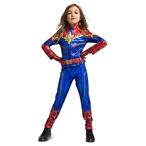 Disfraz de Capitán Marvel para niñas, talla 9/10