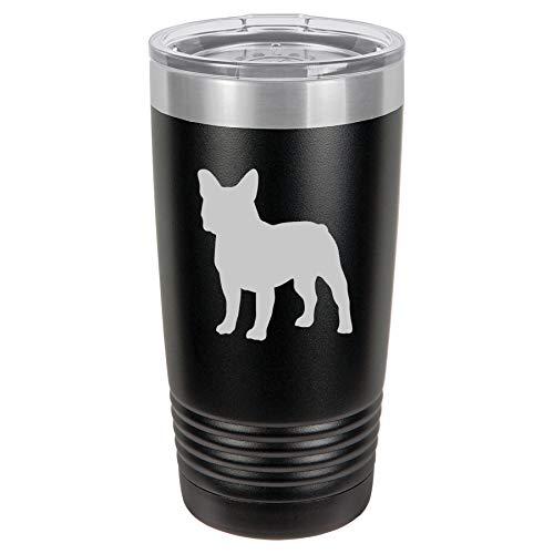 Tumbler Stainless Steel Vacuum Insulated Travel Mug French Bulldog (Black, 20 oz)