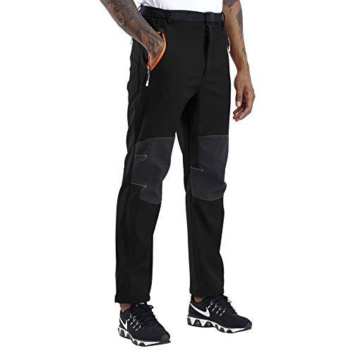CARETOO Pantaloni Outdoor da Uomo Funzionali Softshell Impermeabili e Traspiranti Pantaloni per All'aperto Trekking Montagna