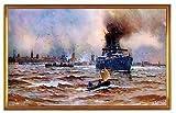 Kunstdruck Wilhelmshaven Deutsches Reich Kaiserzeit Hafen