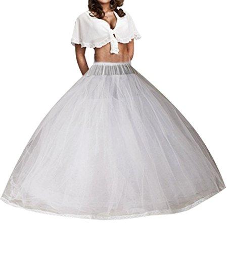 O.D.W Lange Tuell Petticoat mit Eight Schichten Voller Slip A-Linie Unterrock für Hochzeitskleider...