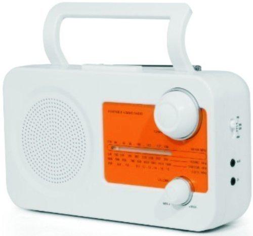 Retro Radio, tragbar - knalliges orange, perfekt für unterwegs, Camping geeignet