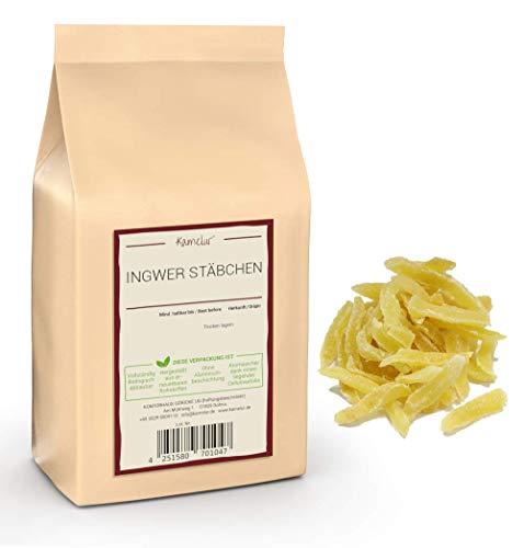1kg de bâtonnets de gingembre doux - Bâtonnets de gingembre confit de qualité supérieure, sans sulfites