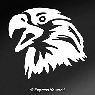Express Yourself Products Screamin' Eagle (White - Reverse Image - Small) Decal Sticker - Birds of Prey Collection