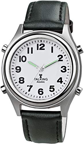 Talking Atomic Watch with Leather Band - Model 3954