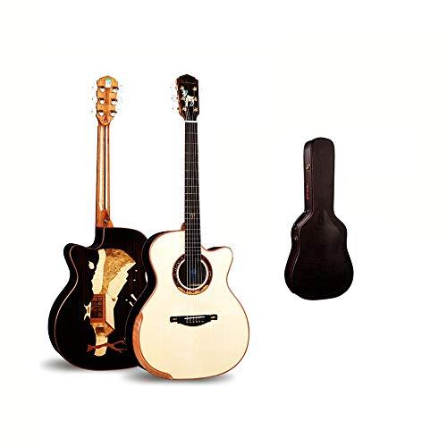 Boll-ATur 41 pulgadas de la personalidad de madera sólida de chapa de madera tallado a mano la guitarra acústica Guitarra de palisandro Jugar grado de Aries guitarra acústica exclusiva guitarra acústi