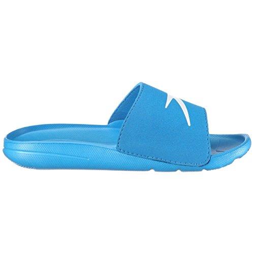 Speedo Atami Core Slide (Box) 8073993082, Jungen Sandalen/Bade-Sandalen, Blau (Blue/White), EU 31