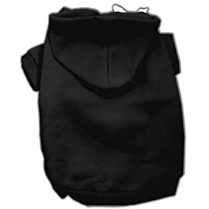 Mirage Pet Products 14-Inch Blank Hoodies, Large, Black