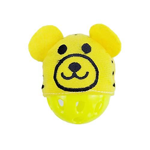 Hoomall Katzenspielzeug Katzenball Katzenglöckchen mit Rassel für Hamster Katze Grün Weiß Gelb Roserot