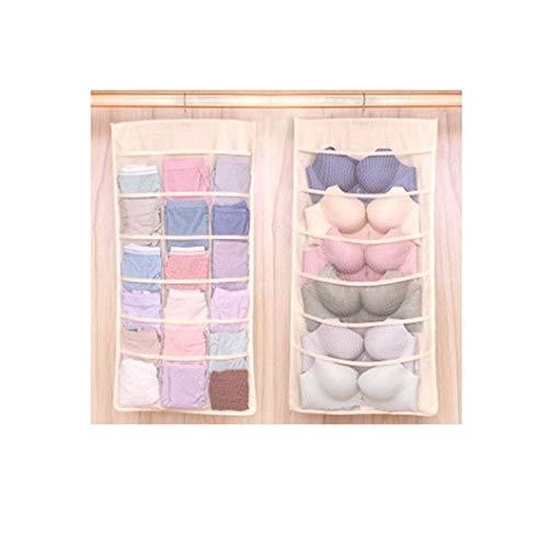 GXX Underwear Bra Organizer Storage Bag 4 Colors Closet Organizers Boxes for Underwear Scarves Socks Bra Hanging Storage Pouch