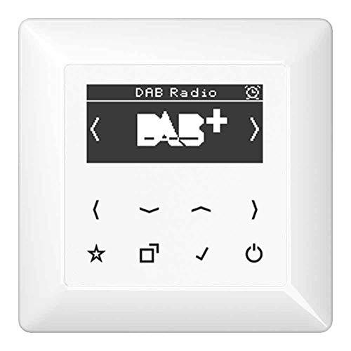 Jung Smart Radio DAB Komplett-Set Weiß DABAWW mit 1-Fach Rahmen AS581WW