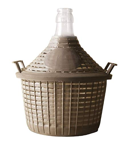 Damigiana in vetro/damigiana con protezione cestop, 54 L - per la conservazione e fermentazione