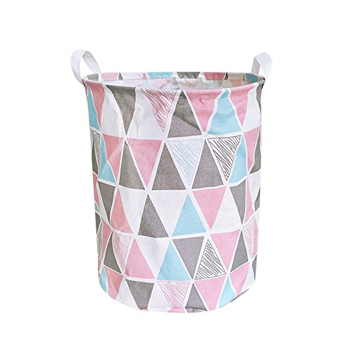 Check Out This Large Storage Bins - Folding Cylindric Laundry Hamper - Waterproof Canvas Fabric Orga...