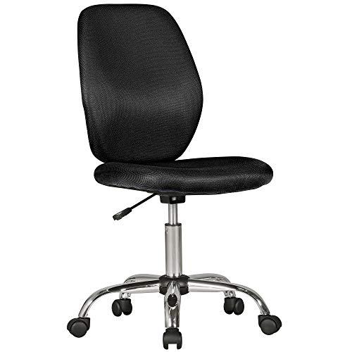 Amstyle Emma zwart vanaf 6 met leuning draaistoel voor kinderen, ergonomisch, in hoogte verstelbaar, kinderbureaustoel zonder armleuning, stof, 47 x 94 x 47 cm