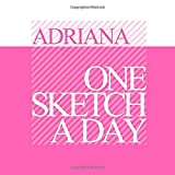 Adriana: Personalized pink mini sketchbook with name: One sketch a day for 120 days challenge