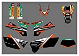 Zhbqcmou Motorcycle Style Graphics Fondos Calcomanías para KTM 125 200 250 300 400 450 525 Exc 2004 hnzhb