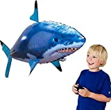 Remote Control Shark Toys Air Swimming Fish Animal Toy Remote Radio Blimp Inflatable Balloon Flying Shark (Blue)