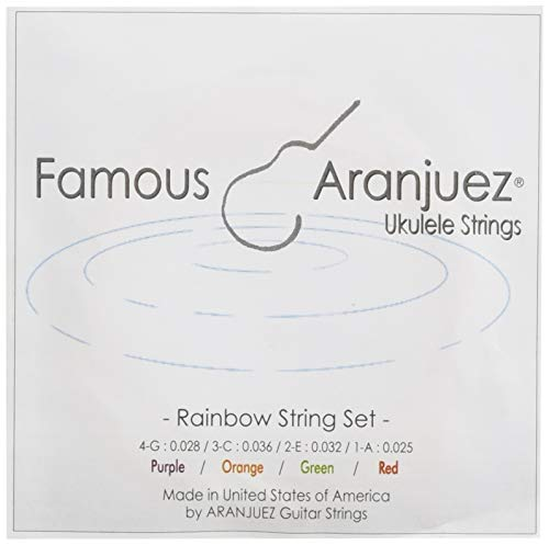 【Famous】 ウクレレ アランフェス弦セット レインボー (ナイロン オールサイズ対応)