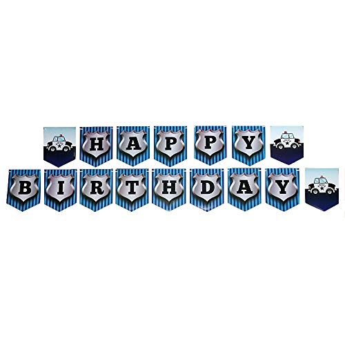 Police Party Jointed Banners, Police Party Supplies, Police Party Birthday Banner