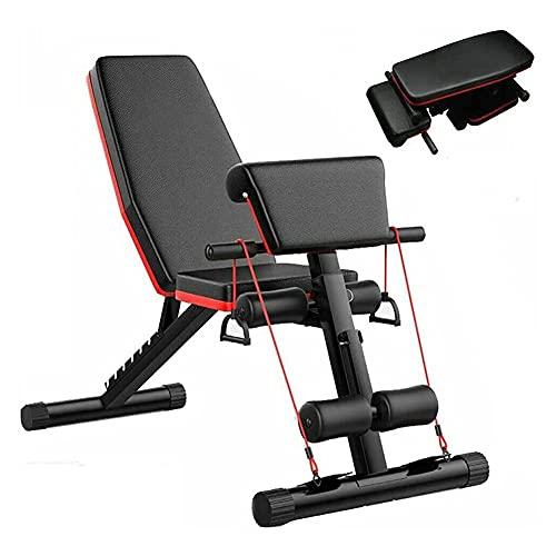 JIAX Bancos de peso ajustables para hombres, banco de ejercicios plegable, banco de ejercicios multifuncional, para ejercicios de gimnasio en casa, entrenamiento de cuerpo completo