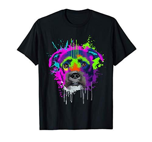 Splash Art Grifón Dueño De Un Perro Regalo Perros Camiseta
