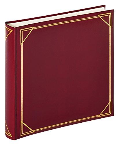 walther design MX-200-R Classicalbum Standard, Fotoalbum, weinrot, 30 x 30 cm