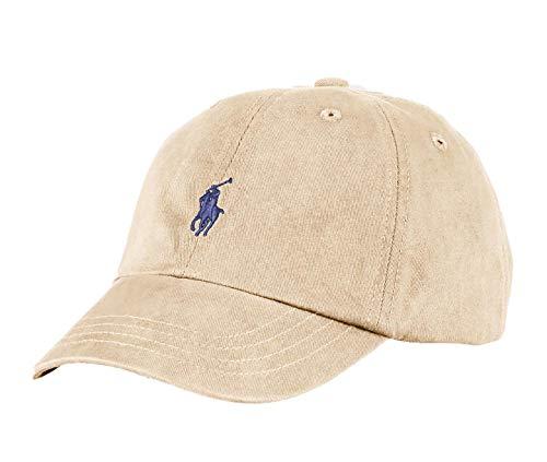 Polo Ralph Lauren Classic Khaki Navy Pony Youth Adjustable Slouch Hat Cap (4-7)
