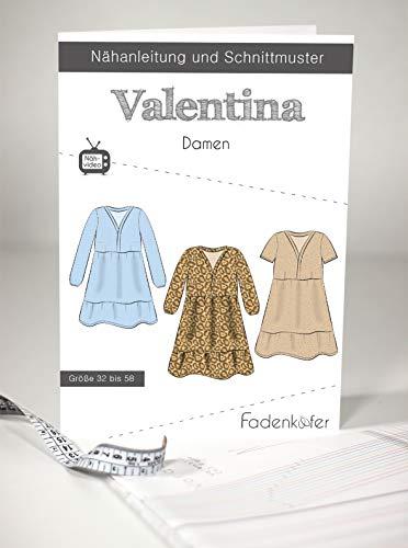 Fadenkäfer Papierschnittmuster Kleid Valentina Damen
