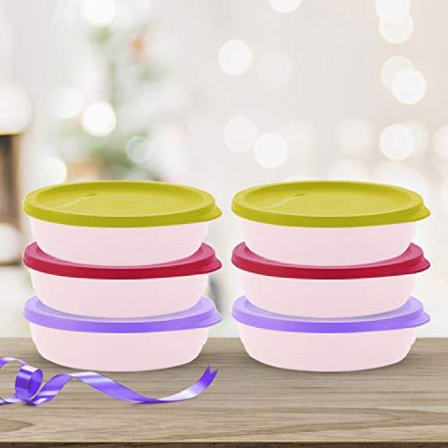 Tupperware Plastic Storage Jar- 200 ml, 6 Pieces, Multicolour