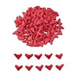 WANDIC - Corazones de Papel para Origami, 100 Unidades, Papel Rojo, diseño de corazón, Hechos a Mano, plegados, para decoración del hogar, Bodas