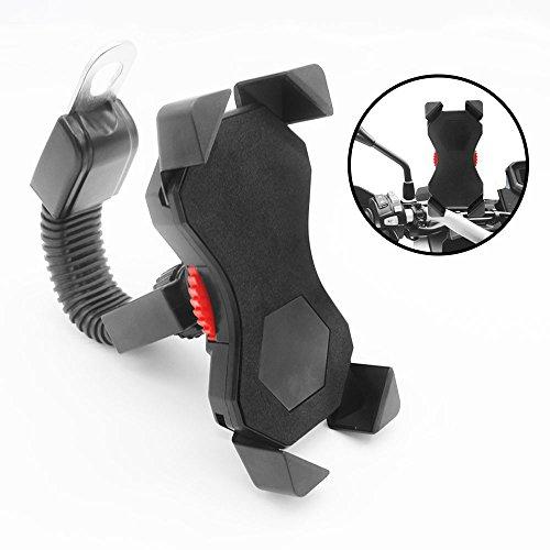 FEYG Motorrad Handyhalterung, Universal Handyhalterung Motorrad 360°drehbar Anti-Shake Handyhalter Motorrad Smartphones 3,5-6,5 Zoll Smartphone Schutz Tasche Handytasche