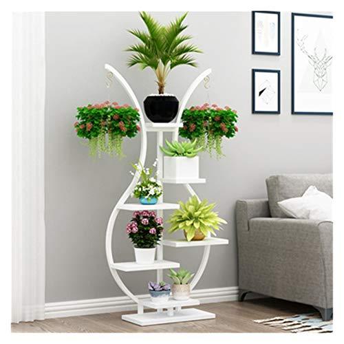 WJCRYPD Flower Stand Type Hogar Iron Art Shelf Flower Pot SART Pantalla Pantalla Soporte Soporte Planta Soporte Interior Qf Shop (Color : E)