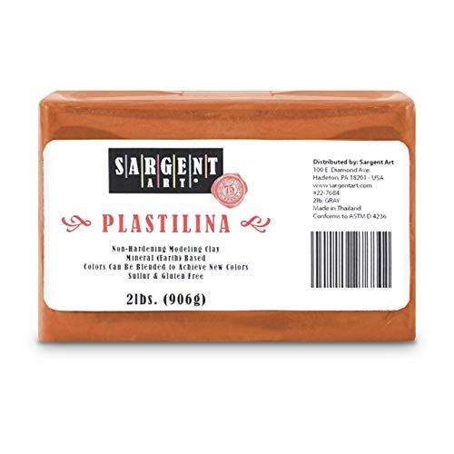 Sargent Art Plastilina Modeling Clay, 2-Pound, Terracotta