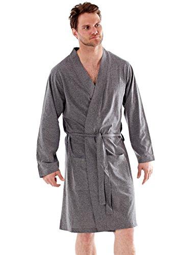 Hombre Bata Lighweight 100% Algodón Puro Suéter Verano - algodón, Carbón, 95% algodón 100% algodón 5% poliéster, Hombre, Extra Grande