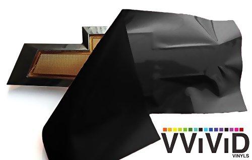 VViViD XPO Matte Black Chevy Bowtie Logo Wrap Kit (2 Rolls (11.8 Inch x 4 Inch))