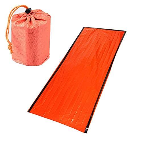 YoJiSa Survival Sleeping Bag Emergency Bivvy Bag PE Aluminum Film Thermal Sleeping Bags Reusable Portable Waterproof Emergency Blanket for Outdoor Camping Hiking