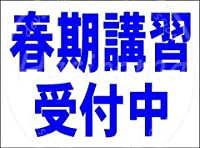 「春期講習受付中(紺)」 看板メタルサインブリキプラーク頑丈レトロルック20 * 30 cm
