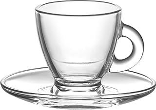 Borella Casalighi Roma Juego de café con Plato Transparentes, 12Unidad