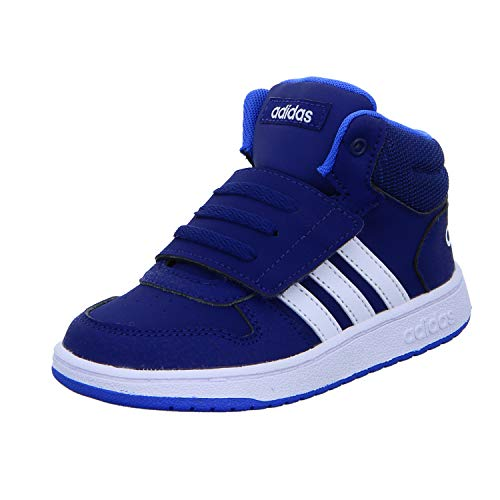 adidas Hoops Mid 2.0 I, Zapatillas de Estar por casa Unisex niños, Multicolor (Azuosc/Ftwbla/Azuaut 000), 22 EU