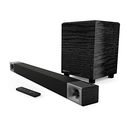 Klipsch Cinema 400 Sound Bar + 8Inch Wireless Subwoofer with HDMIARC (Renewed)