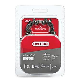 Oregon D70 AdvanceCut Chainsaw Chain for 20-Inch Bar  Fits Echo CS600P CS-680 CS-550EVL Poulan 3400 Homelite XL 12 and Super XLAO & More .050-Inch Gauge 70 Drive Links