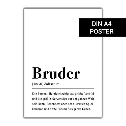 Bruder Definition: DIN A4 Poster